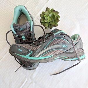 Ryka Sky Walk 7M Walking Shoes in Grey/Aqua